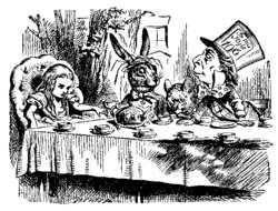 "John Tenniel's illustration for ""A Mad Tea-Party"", 1865"