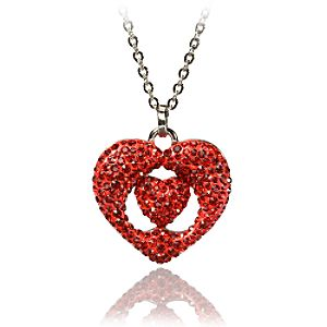 Red Queen Alice in Wonderland Heart Necklace by Swarovski