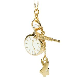 White Rabbit Alice in Wonderland Necklace by Swarovski