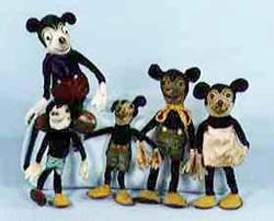 Mickey Mouse Toys from the 1930's.
