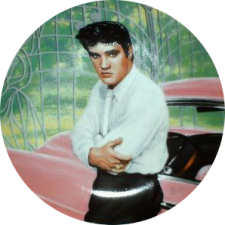 Elvis Plate at Gates of Graceland