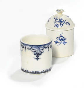 A Mennecy Pommade Pot And Cov er And A Saint-Cloud Pommade Pot