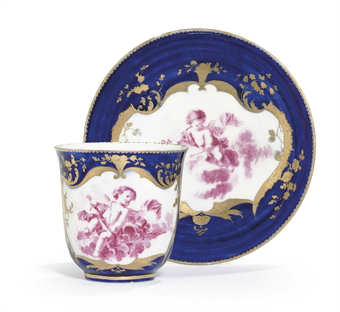 A Vincennes Bleu Lapis Cup And Saucer