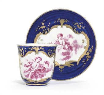 A Vincennes Bleu Lapis Cup And Saucer