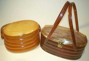 Plastic American beehive style bags 1950s