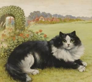 The Cat in his Garden