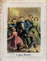 Victorian Christmas Cards Blind Mans Buff Party Game