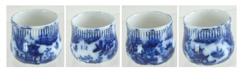 Carlton Ware Flow Blue WILLOW tiny vessel