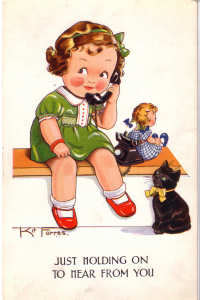 Cartoon Doll Postcard