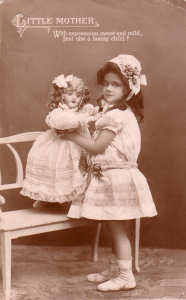 Early Doll Postcard