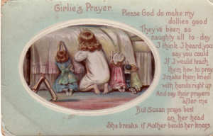 Doll Prayer Card