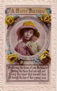 1920s Doll Postcard