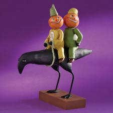 ENESCO Pumpkins Raven Figurine