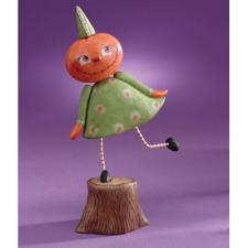 Pumpkin Child on Stump