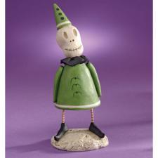 Janell Berryman GREEN SKELETON Figurine