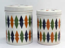 T G Green Roulette kitchen jars 1960s