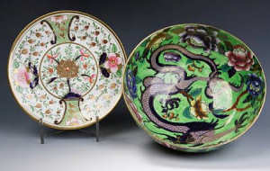 Maling Lustre Bowls Dragom Swansea Floral