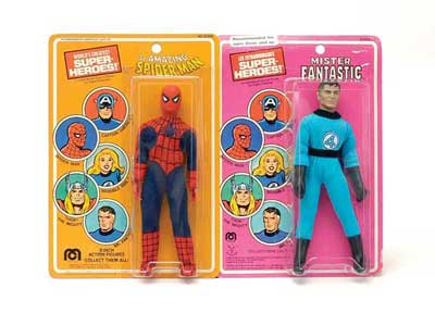Mego Spiderman & Mego Mr Fantastic