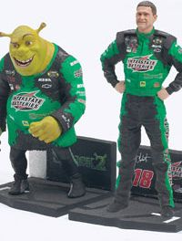 Bobby Labonte and Shrek from Action McFarlane