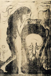 Edvard Munch (1863-1944)  The Woman at the Urn