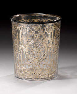 a rare French double-walled beaker by Pierre-Philippe Grichois