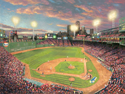 Boston Baseball theme for Thomas Kinkade March Releases