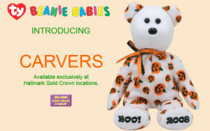 Carvers Hallmark Beanie Halloween Exclusive