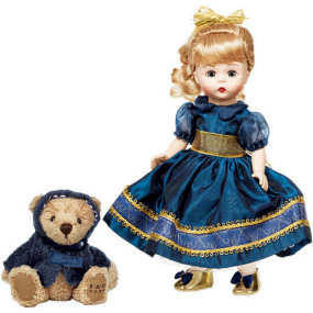 FAO Madame Alexander 2009 Christmas Wendy Doll & Bear