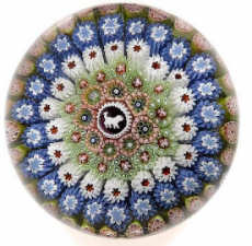 A St. Louis concentric millefiori paperweight