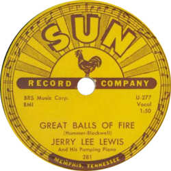 Jerry Lewis Great Balls of Fire Sun Label