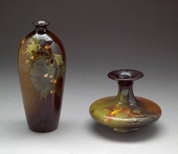 Two Roseville Rozane glazed pottery vases early 20th Century