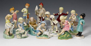 A set of twelve Royal Worcester Months of the Year figures