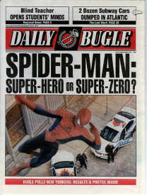 Spider-Man newspaper prop