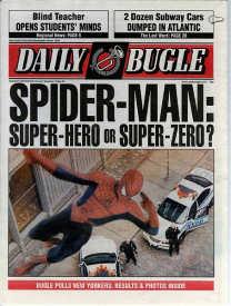 Spider-Man newspaper prop