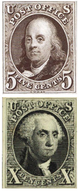 First U.S. stamps 1847