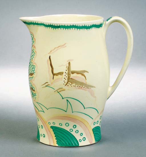A Susie Cooper Grays Pottery leaping gazelle jug