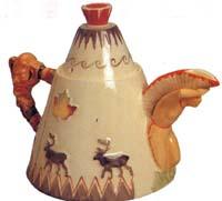 Clarice Cliff Teepee Teapot